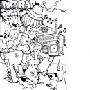Graffiti Coloring Book 2 - Characters